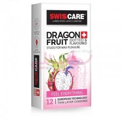 کاندوم سویس کر خاردار میوه ای دراگون فروت SWISSCARE DRAGON FRUIT