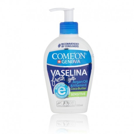 وازلین 300 میل پوست حساس کامان COME'ON 300ml Argan Oil and Vitamin E VASELINA